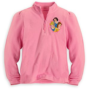 Personalizable Disney Princess Fleece Pullover for Girls