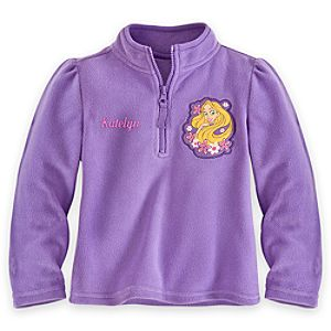 Rapunzel Fleece Pullover for Girls - Personalizable