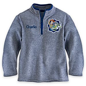 Woody and Buzz Lightyear Fleece Pullover for Boys - Personalizable