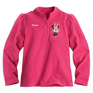 Minnie Mouse Fleece Pullover for Girls - Personalizable