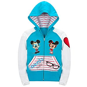 Nerds Minnie and Mickey Mouse Hoodie for Girls