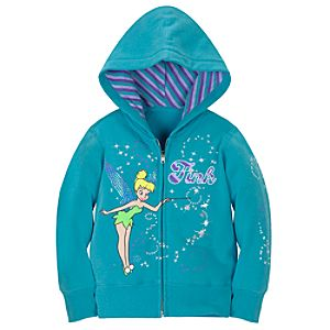 Zip Fleece Tinker Bell Hoodie for Girls