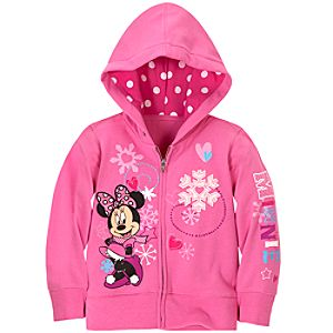 Snowflake Fleece Minnie Mouse Hoodie for Girls