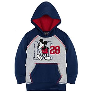 Raglan Pullover Mickey Mouse Hoodie for Boys