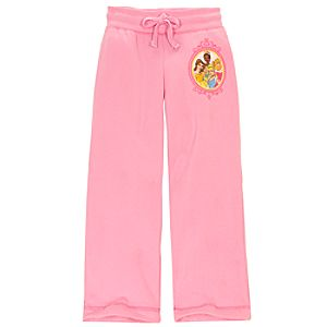 Pink Fleece Disney Princess Pants for Girls