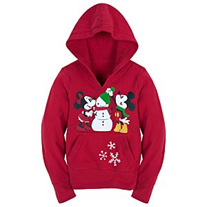 Share the Magic Pullover Minnie and Mickey Mouse Hoodie for Girls