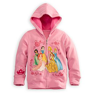 Zip Fleece Disney Princess Hoodie for Girls