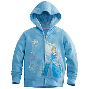 Zip Fleece Cinderella Hoodie for Girls