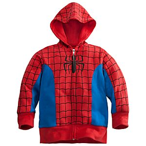 Zip Fleece Spider-Man Hoodie for Boys
