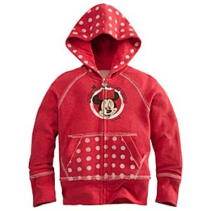 Zip Fleece The Mickey Mouse Club Minnie Mouse Hoodie for Girls