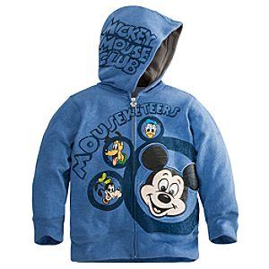 Zip Fleece The Mickey Mouse Club Mickey Mouse Hoodie for Boys