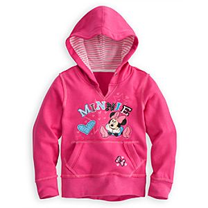 Pullover Fleece Minnie Mouse Hoodie for Girls