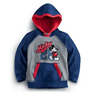 Pullover Fleece Mickey Mouse Hoodie for Boys