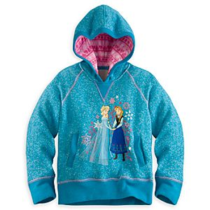 Anna and Elsa Pullover Hoodie for Girls - Frozen