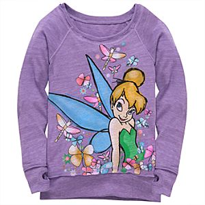 Long Sleeve Tinker Bell Tee for Girls