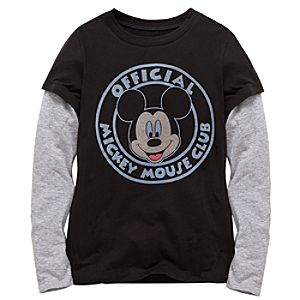 Double-Up Long Sleeve Mickey Mouse Tee for Girls