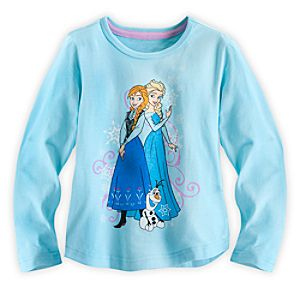 Anna and Elsa Long Sleeve Tee for Girls - Frozen
