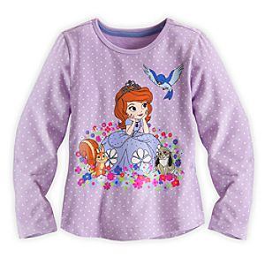 Sofia Long Sleeve Tee for Girls