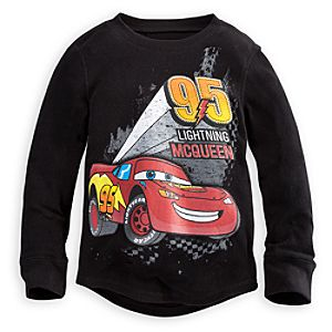 Long Sleeve Thermal Lightning McQueen Tee for Boys