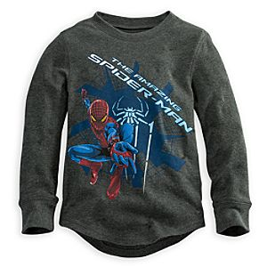 Long Sleeve Thermal Spider-Man Tee for Boys