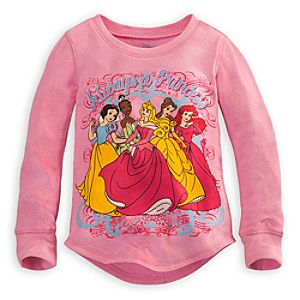 Long Sleeve Thermal Disney Princess Tee for Girls