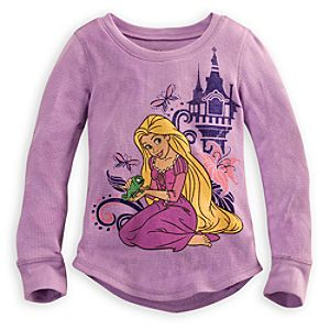 Long Sleeve Thermal Rapunzel Tee for Girls