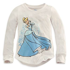 Long Sleeve Thermal Cinderella Tee for Girls