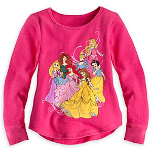 Disney Princess Long Sleeve Thermal Tee for Girls