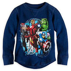 The Avengers Long Sleeve Thermal Tee for Boys
