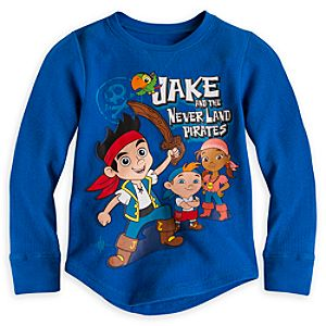 Jake and the Never Land Pirates Long Sleeve Thermal Tee for Boys