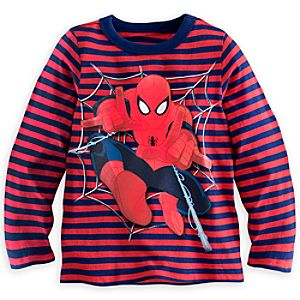 Spider-Man Striped Long Sleeve Tee for Boys