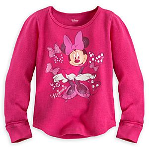 Minnie Mouse Long Sleeve Thermal Tee for Girls