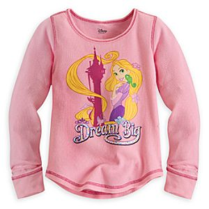 Rapunzel Long Sleeve Thermal Tee for Girls