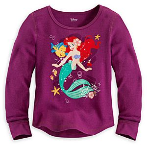 Ariel Long Sleeve Thermal Tee for Girls