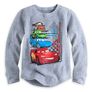 Cars Long Sleeve Thermal Tee for Boys