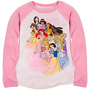 Raglan Long Sleeve Disney Princess Tee for Girls -- Made with Organic Cotton