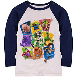 Raglan Long Sleeve Toy Story Tee for Boys -- Made with Organic Cotton