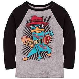 Raglan Long Sleeve Agent P Tee for Boys -- Made with Organic Cotton