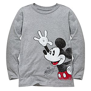 Long Sleeve Mickey Mouse Tee for Kids -- Made With Organic Cotton