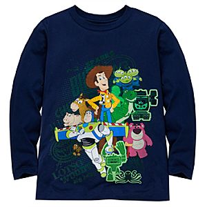 Long Sleeve Toy Story 3 Tee for Boys -- Made With Organic Cotton