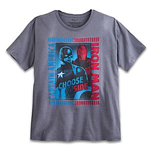 Captain America and Iron Man Tee for Adults - Captain America: Civil War - Plus Size