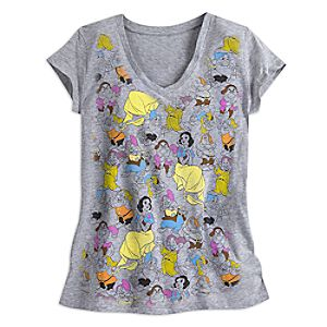 Snow White and the Seven Dwarfs V-Neck Tee for Women