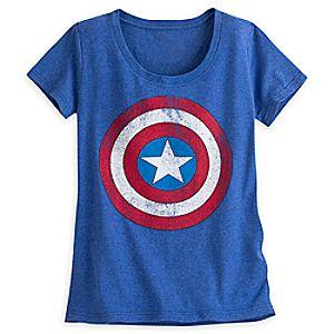 Captain America Shield Tee for Women