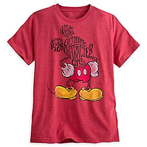 Mickey Mouse Text Art Tee for Men
