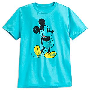 Mickey Mouse Classic Tee for Men - Aqua