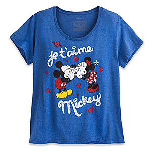 Mickey and Minnie Mouse Je Taime Mickey Tee for Women - Plus Size