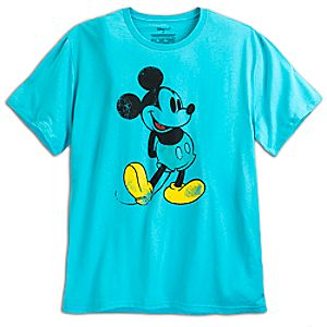 Mickey Mouse Classic Tee for Men - Aqua - Plus Size