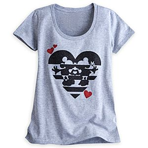 Mickey and Minnie Mouse Glitter Tee for Women