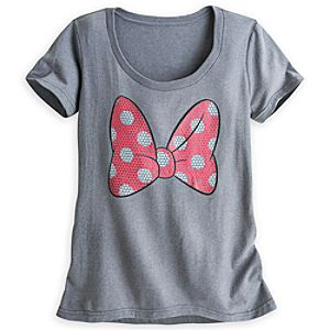 Minnie Mouse Bow Tee for Women