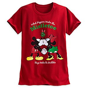 Mickey and Minnie Mouse Holiday Tee for Women